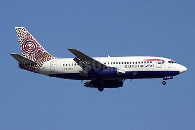 British Airways-Comair (South Africa) Boeing 737-236 ZS-OLA (msn 23163) (Ngapa Jukurrpa-Water Dreaming - Australia) JNB (Rob Finlayson). Image: 953718.