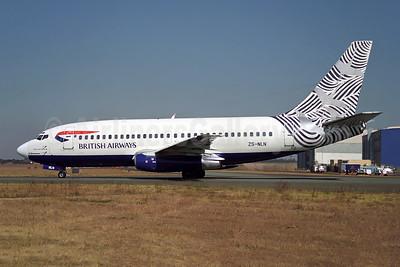 British Airways-Comair (South Africa) Boeing 737-2L9 ZS-NLN (msn 21686) (Waves and Cranes - Nami Tsuru - Japan)  JNB (Rob Finlayson). Image: 953721.