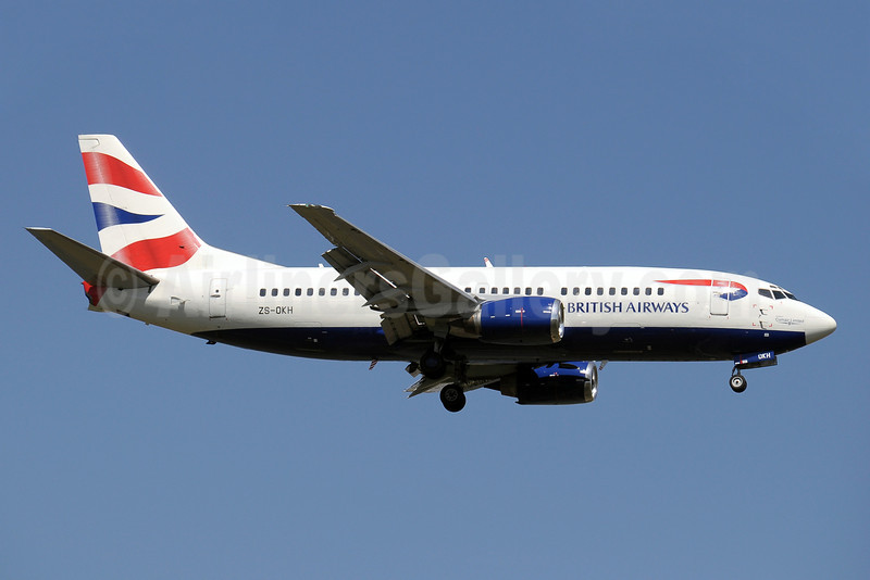 British Airways-Comair (South Africa) Boeing 737-376 ZS-OKH (msn 23479) JNB (Paul Denton). Image: 910399.