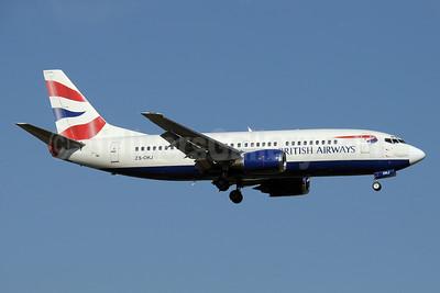 British Airways-Comair (South Africa) Boeing 737-376 ZS-OKJ (msn 23487) JNB (Paul Denton). Image: 910400.