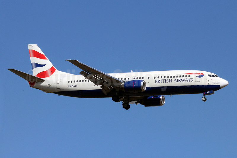 British Airways-Comair (South Africa) Boeing 737-4S3 ZS-OAO (msn 24163) JNB (Christian Volpati). Image: 920240.