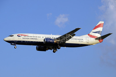 British Airways-Comair (South Africa) Boeing 737-4H6 ZS-OAG (msn 27168) JNB (Paul Denton). Image: 910403.