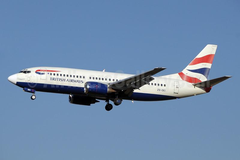 British Airways-Comair (South Africa) Boeing 737-376 ZS-OKI (msn 23489) JNB (Paul Denton). Image: 923457.