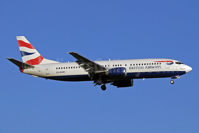 British Airways-Comair (South Africa) Boeing 737-4S3 ZS-OAM (msn 24164) JNB (Paul Denton). Image: 910404.