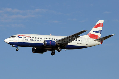 British Airways-Comair (South Africa) Boeing 737-376 ZS-OKG (msn 23483) JNB (Paul Denton). Image: 910398.