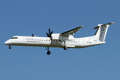 CemAir Bombardier DHC-8-402 (Q400) ZS-DHD (msn 4103) JNB (Jonathan Druion). Image: 945991.