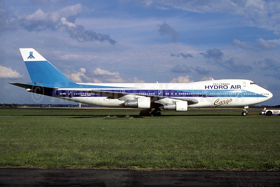 Hydro Air Cargo Boeing 747-258C 4X-AXD (msn 21190) (El Al colors) AMS (Christian Volpati Collection). Image: 936275.