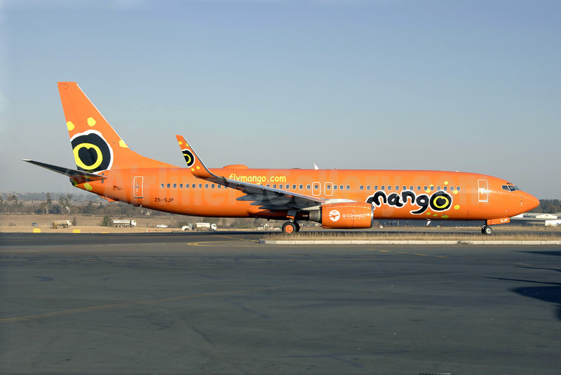 Mango (South African Airways) Boeing 737-8BG WL ZS-SJP (msn 32358) HLA (TMK Photography). Image:  920548.