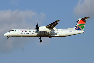 SA Express (South African Express Airways) Bombardier DHC-8-402 (Q400) ZS-YBT (msn 4146) JNB (TMK Photography). Image: 920678.