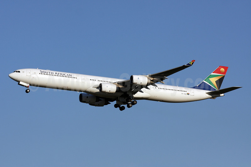 South African Airways Airbus A340-642 ZS-SNB (msn 417) IAD (Brian McDonough). Image: 903761.