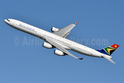 South African Airways Airbus A340-642 ZS-SNI (msn 630) JFK (Fred Freketic). Image: 944355.