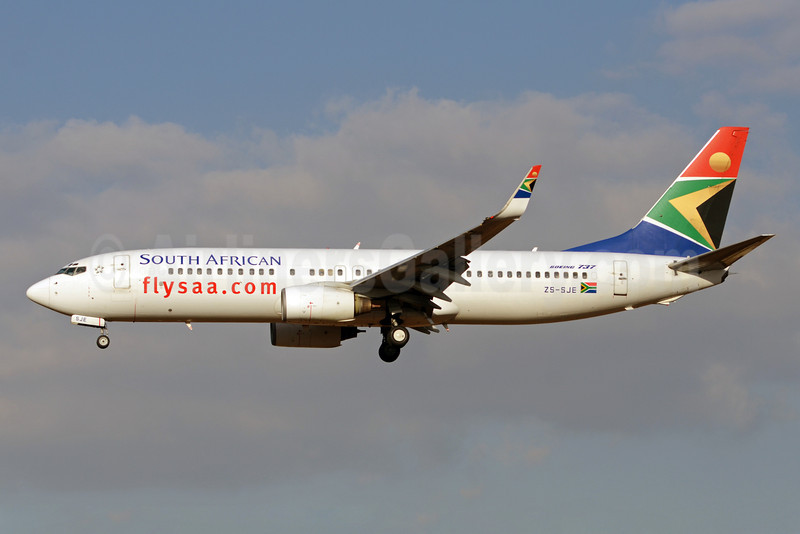 South African Airways Boeing 737-85F WL ZS-SJE (msn 28830) JNB (TMK Photography). Image: 913575.