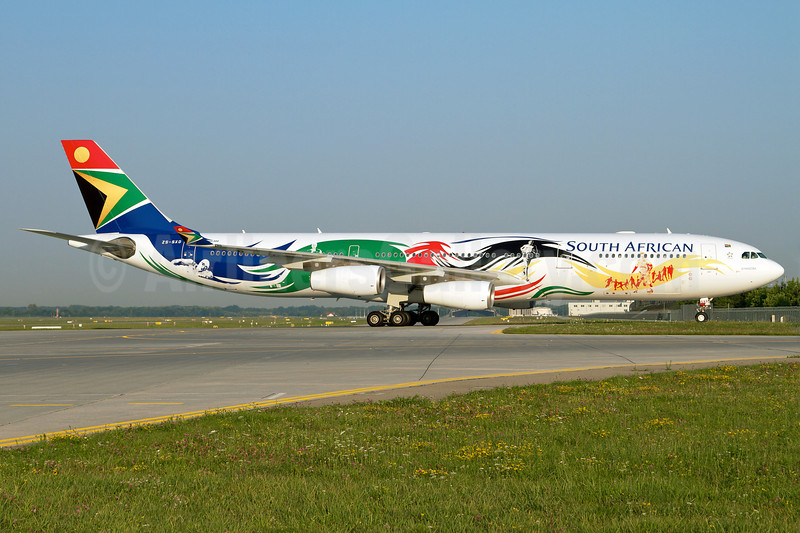 South African Airways Airbus A340-313X ZS-SXD (msn 643) (2012 London Olympics) MUC (Arnd Wolf). Image: 908879.