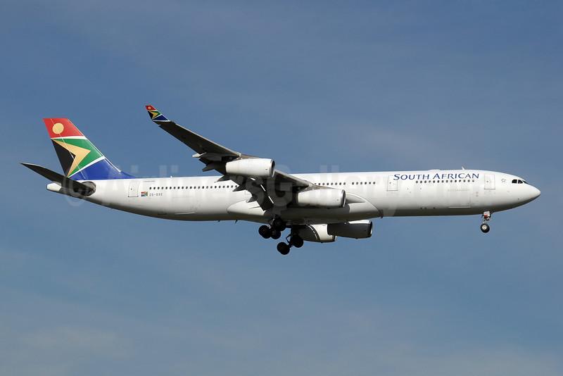 South African Airways Airbus A340-313X ZS-SXE (msn 646) JNB (Paul Denton). Image: 910173.