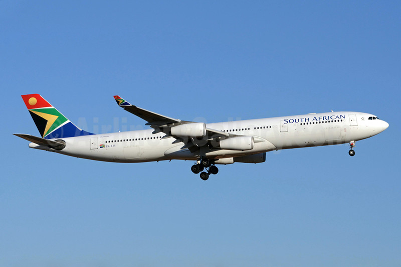 South African Airways Airbus A340-313E ZS-SXA (msn 544) JNB (TMK Photography). Image: 913574.