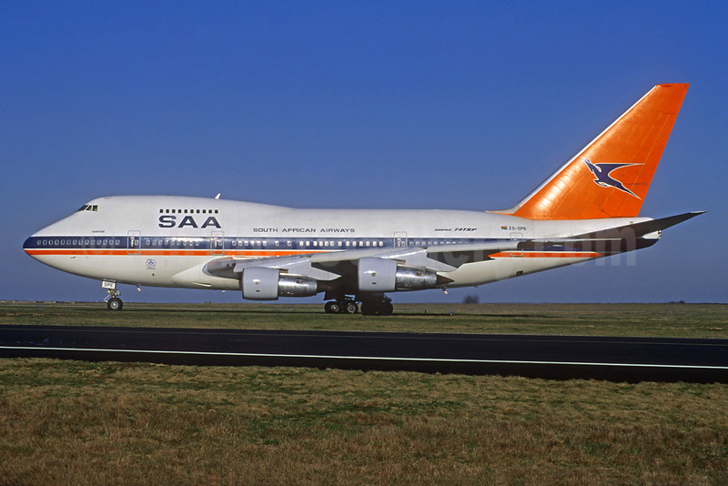 South African Airways-SAA Boeing 747SP-44 ZS-SPE (msn 21254) CDG (Jacques Guillem Collection). Image: 932050.