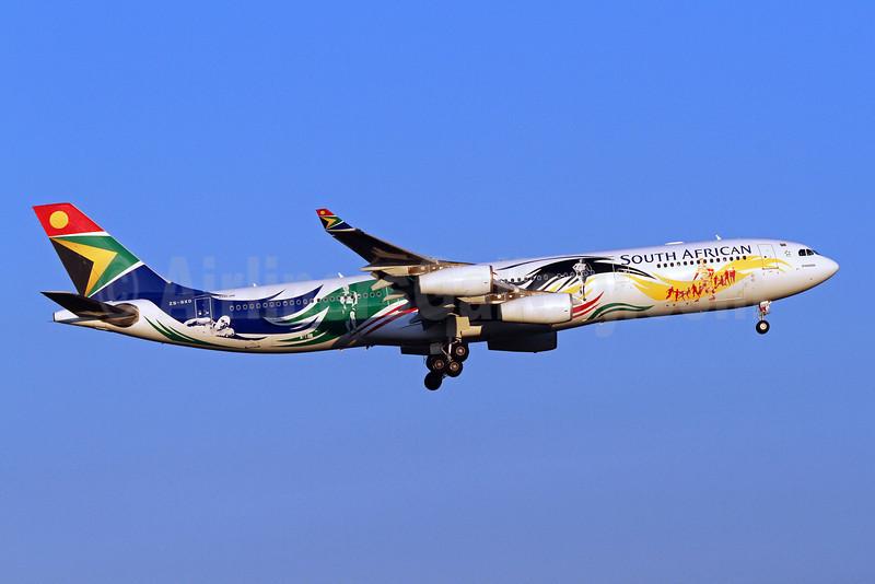 South African Airways Airbus A340-313X ZS-SXD (msn 643) (2012 London Olympics) IAD (Brian McDonough). Image: 909205.