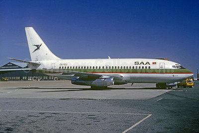 SAA (South African Airways) Boeing 737-2K9 CS-TEU (msn 22416) (Air Atlantis colors) JNB (Jacques Guillem Collection). Image: 933798.