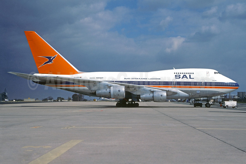 Suid-Afrikaanse Lugdiens-SAL (South African Airways) Boeing 747SP-44 ZS-SPE (msn 21254) CDG (Jacques Guillem Collection). Image: 932050.