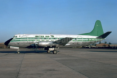 United Air Services (South Africa) Vickers Viscount 754D ZS-JUJ (msn 243) (Swazi Air colors) JNB (Christian Volpati Collection). Image: 954777.