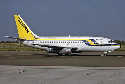 Sudan Airways Boeing 737-2J8 ST-AFL (msn 21170) SHJ (Perry Hoppe). Image: 920719.