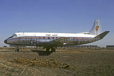 Royal Swazi National Airways (1st) Vickers Viscount 761D 3D-ACV (msn 189) JNB (Christian Volpati Collection). Image: 948719.