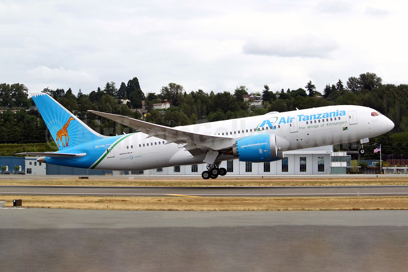 """Air Tanzania's first Dreamliner, """"Kilimanjaro"""", handed over on July 7, 2018"""