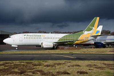 Precision Air Boeing 737-36N N334MP (5H-PMS) (msn 28596) BOH (Richard Vandervord). Image: 930730.
