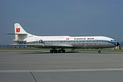 Tunis Air Sud Aviation SE.210 Caravelle 6N OO-SRE (msn 067) (SABENA fuselage colors) ZRH (Christian Volpati Collection). Image: 937218.