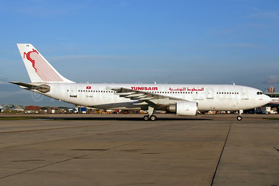 Tunisair Airbus A300B4-605R TS-IPB (msn 563) LHR (Wingnut). Image: 905688.