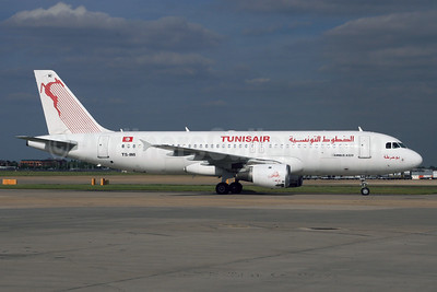 Tunisair Airbus A320-211 TC-IMI (msn 511) LHR (SPA). Image: 928518.