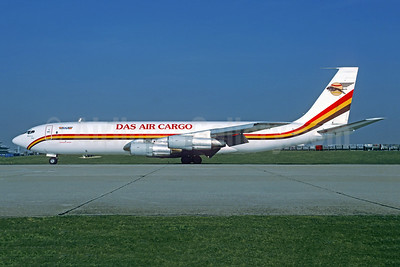 DAS Air Cargo - ANA Aviation Services Boeing 707-369C 5X-JON (msn 20546) ORY (Jacques Guillem). Image: 951958.