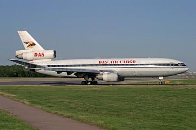 DAS Air Cargo - ANA Aviation Services McDonnell Douglas DC-10-30 (F) 5X-DAS (msn 46541) (All Canada Express colors) LGW (Antony J. Best). Image: 951963.
