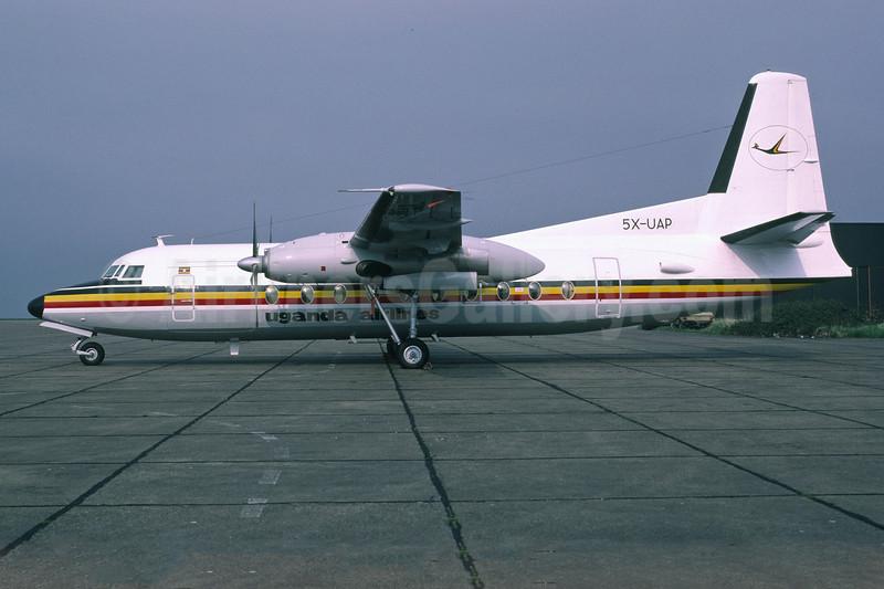 Uganda Airlines Fokker F.27 Mk. 600 5X-UAP (msn 10576) NWI (Richard Vandervord). Image: 902588.