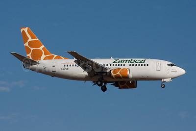 Zambezi Airlines Boeing 737-53S 9J-ZJC (msn 29074) JNB (Michael Stappen). Image: 906764.
