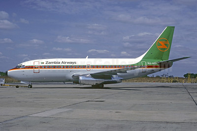 Zambia Airways Boeing 737-2M9 9J-AEG (msn 21236) LUN (Christian Volpati Collection). Image: 923777.