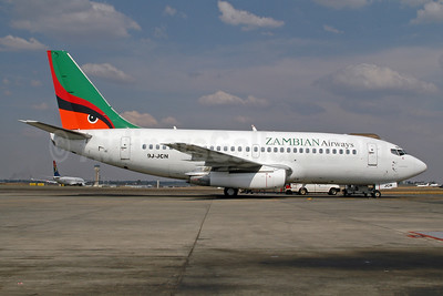 Zambian Airways Boeing 737-244 9J-JCN (msn 22588) JNB (Ton Jochems). Image: 953291.