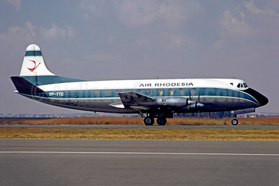 Air Rhodesia Vickers Viscount 754D VP-YTE (msn 243) JNB (Christian Volpati Collection). Image: 948713.