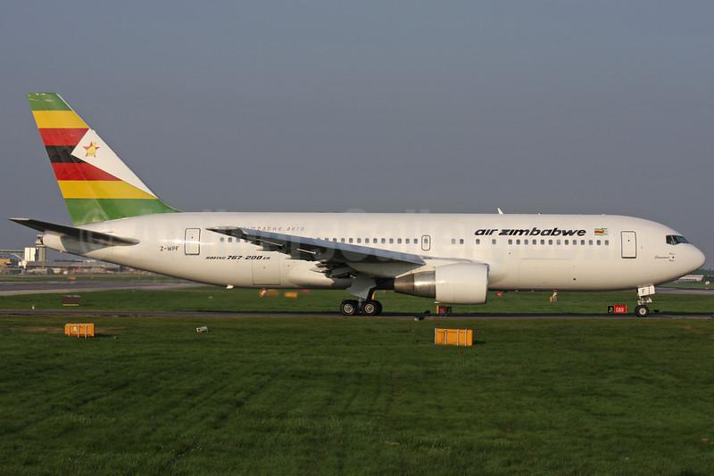 Air Zimbabwe Boeing 767-2N0 ER Z-WPF (msn 24867) LGW (Antony J. Best). Image: 906359.