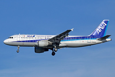 ANA (All Nippon Airways) Airbus A320-211 JA8400 (msn 554) (Inspiration of Japan) NRT (Michael B. Ing). Image: 929298.
