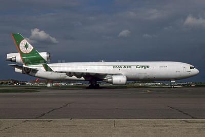 EVA Air Cargo McDonnell Douglas MD-11F B-16111 (msn 48787) LHR. Image: 933067.