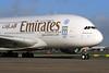 Emirates Airline Airbus A380-861 A6-EOT (msn 204) (Expo 2020 Dubai UAE) LHR. Image: 931102.