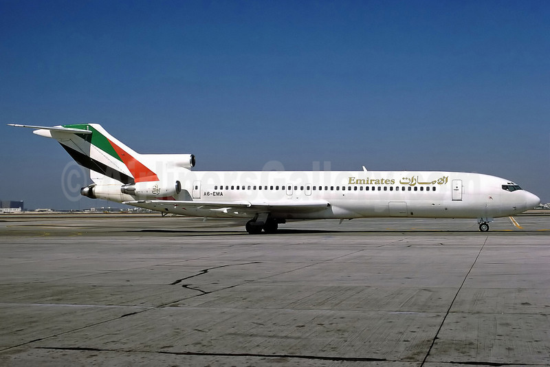 Emirates Airline Boeing 727-2M7 A6-EMA (msn 21951) DXB (Perry Hoppe). Image: 911168.