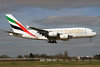 Emirates Airline Airbus A380-861 A6-EDI (msn 028) (Expo 2020 Dubai UAE) LHR (SPA). Image: 927349.