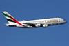 Emirates Airline Airbus A380-861 A6-EDU (msn 098) LHR (SPA). Image: 930555.