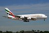 Emirates Airline Airbus A380-861 A6-EDK (msn 030) (Expo 2020 Dubai UAE) LHR (SPA). Image: 930554.