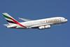 Emirates Airline Airbus A380-861 A6-EDQ (msn 080) (Expo 2020 Dubai UAE) LHR (SPA). Image: 924586.