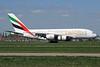 Emirates Airline Airbus A380-861 A6-EDR (msn 083) (Expo 2020 Dubai UAE) LHR. Image: 927350.