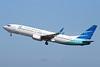 Garuda Indonesia Airways Boeing 737-8U3 WL PK-GMX (msn 38070) DPS (Michael B. Ing). Image: 924198.