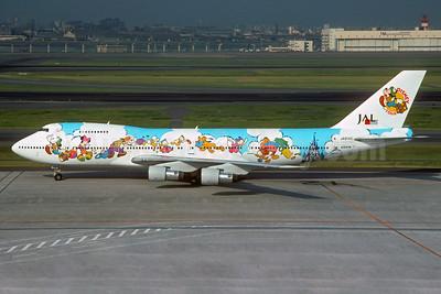 "JAL's 1994 ""Disney on Tour - Dream Express"" logo jet"